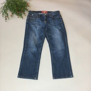 Lucky Brand Easy Rider Crop Jeans -Size: 6
